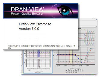 Screenshots of Dran-View 7 power quality software