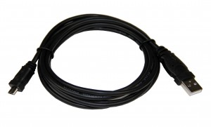 USB-MCABLE -USB male A to USB MicroB, 6 foot cable.