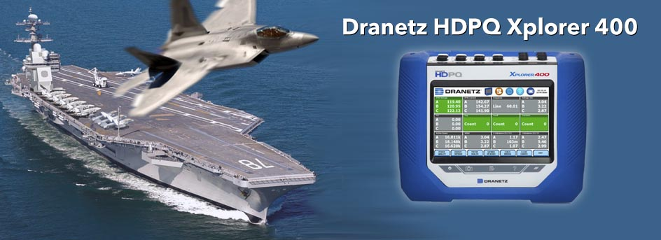 Take Dranetz PQ Monitoring to the Air and Sea with 400Hz
