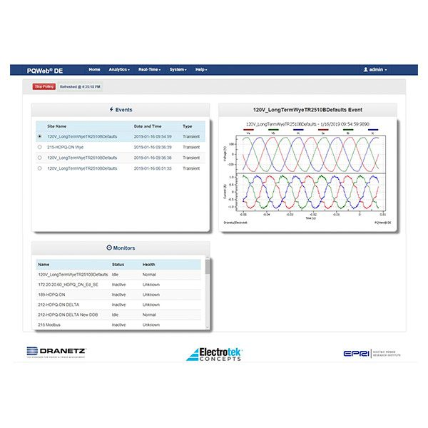 PQView DE Online, Web-Based Power Quality Software